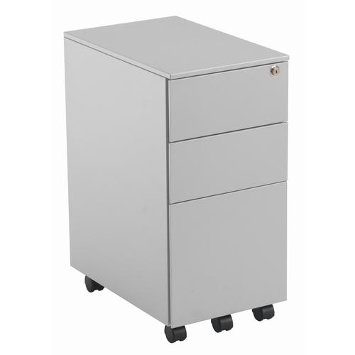 3 Drawer Slimline Under Desk Steel Pedestal