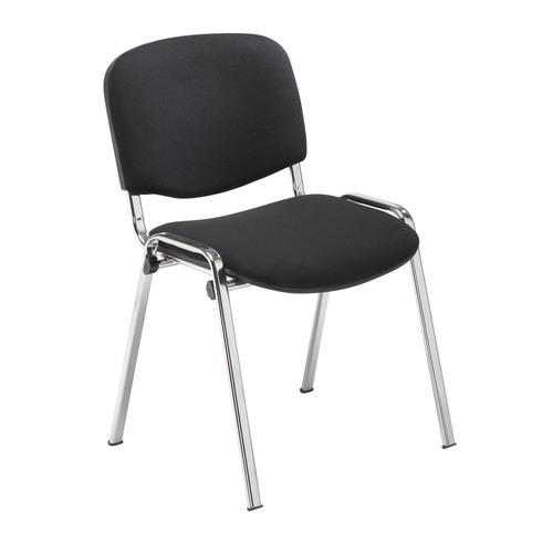 Club Fabric Meeting Chair - Chrome