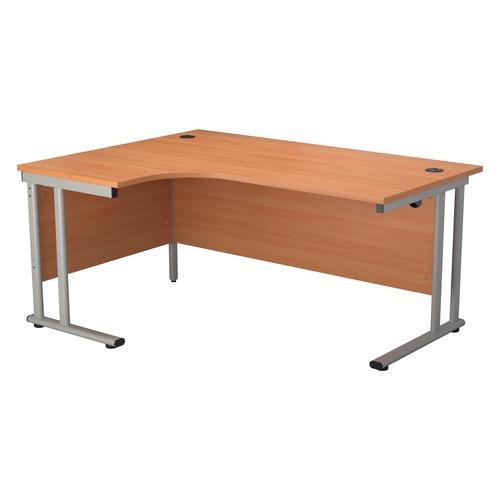 Start 1600mm Left Hand TWU Leg Crescent Desk