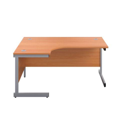 Start 1600mm Left Hand SU Leg Crescent Desk