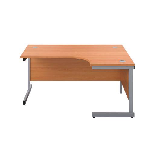Start 1600mm Right Hand SU Leg Crescent Desk
