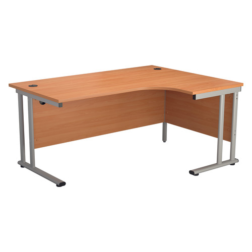 Start 1600mm Right Hand TWU Leg Crescent Desk