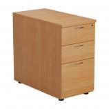 3 Drawer Desk High Pedestal - 800mm Deep