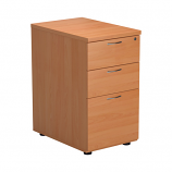 3 Drawer Desk High Pedestal