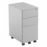 3 Drawer Slimline Under Desk Steel Pedestal