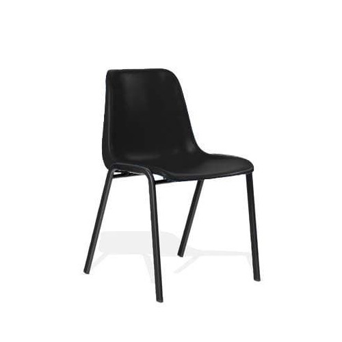 Stacking Visitor Chair Black Polypropylene