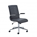 Baresi Black PU Office Chair