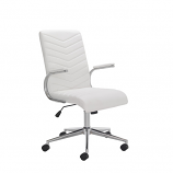Baresi White PU Office Chair