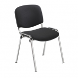 Club Fabric Meeting Chair - Chrome