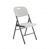Morph White Folding Chair