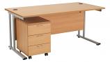 Start 1200mm Cantilever Desk with 3 Drawer Mobile Pedestal
