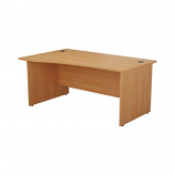 Start 1600mm Left Hand Wave Desk - Panel End